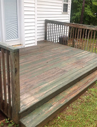 Deck Stain Before