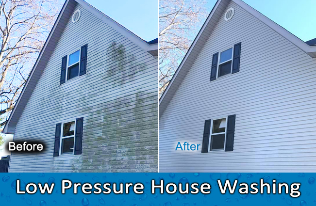 Low Pressure House Washing